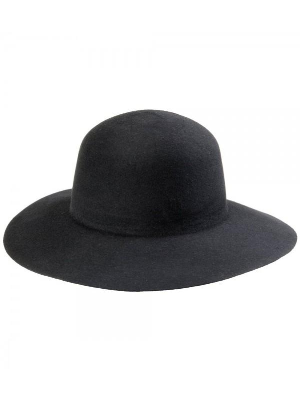 Chapéu Campeiro Feltro Modelo Pança de Burro - Preto