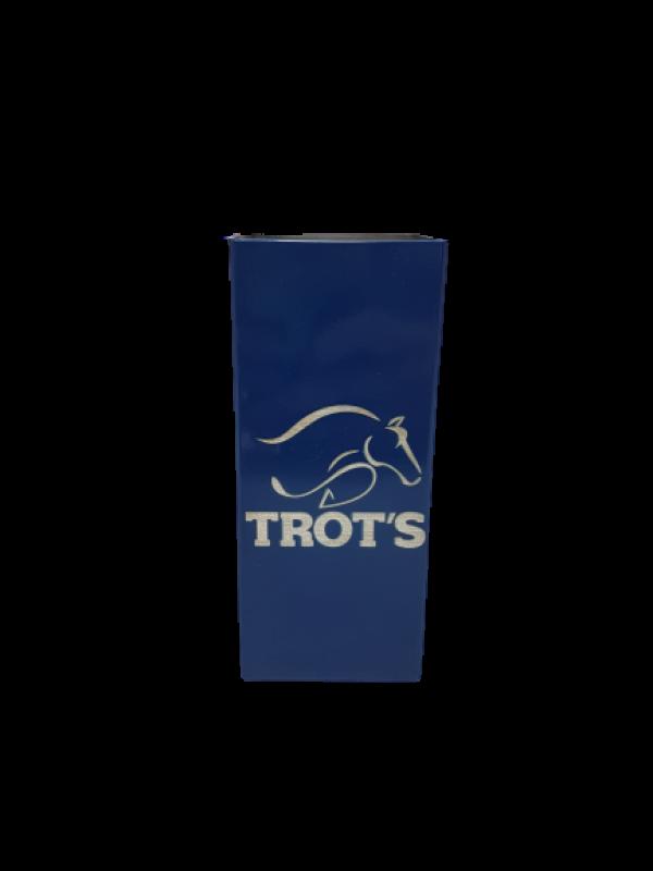Copo Inox Tereré Quadrado Azul - Trot's
