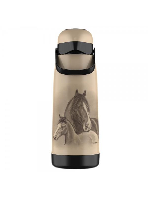 Garrafa Térmica Pressão Termolar 1.8L - Cavalos